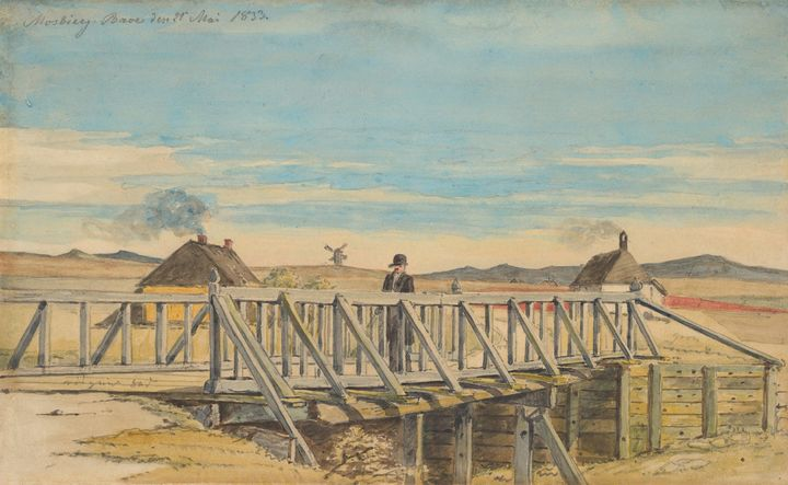 Martinus Rørbye~Landscape with a Bri - Artmaster