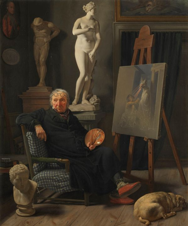 Martinus Rørbye~Portrait of the Pain - Artmaster