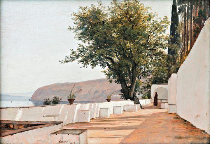 Martinus Rørbye~View of the Sea near - Artmaster