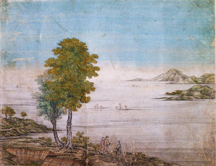 Maruyama Ōkyo~Lakescape in China - Artmaster