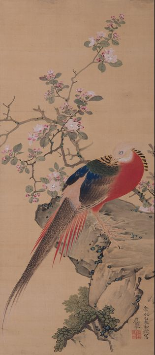 Maruyama Ōkyo~Malus Halliana and A G - Artmaster
