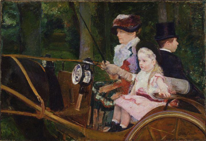 Mary Cassatt~A Woman and a Girl Driv - Artmaster