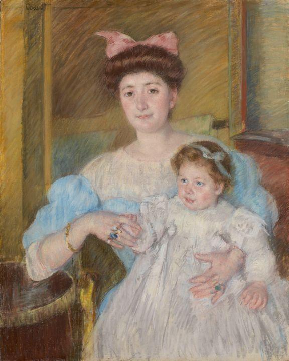Mary Cassatt~Countess Morel d'Arleux - Artmaster