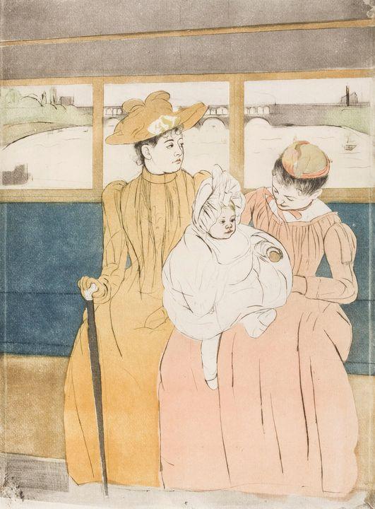 Mary Cassatt~Interior of a Tramway P - Artmaster