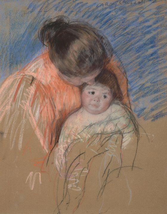 Mary Cassatt~Sketch of a Mother Look - Artmaster