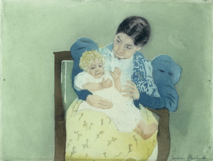 Mary Cassatt~The Bare-Footed Child - Artmaster