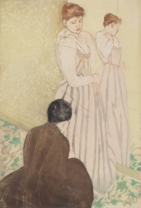 Mary Cassatt~The Fitting - Artmaster