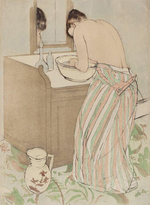 Mary Cassatt~Woman Bathing - Artmaster