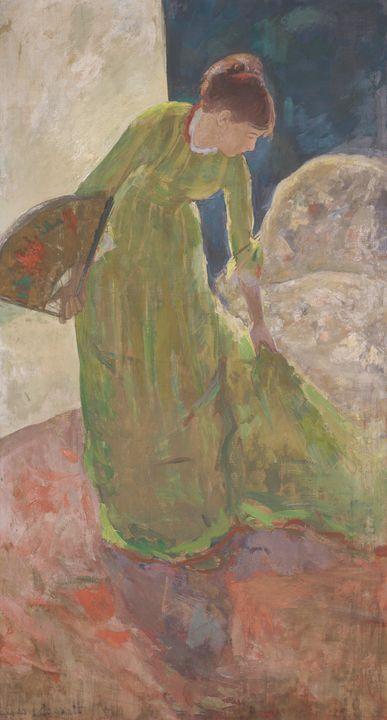 Mary Cassatt~Woman Standing, Holding - Artmaster