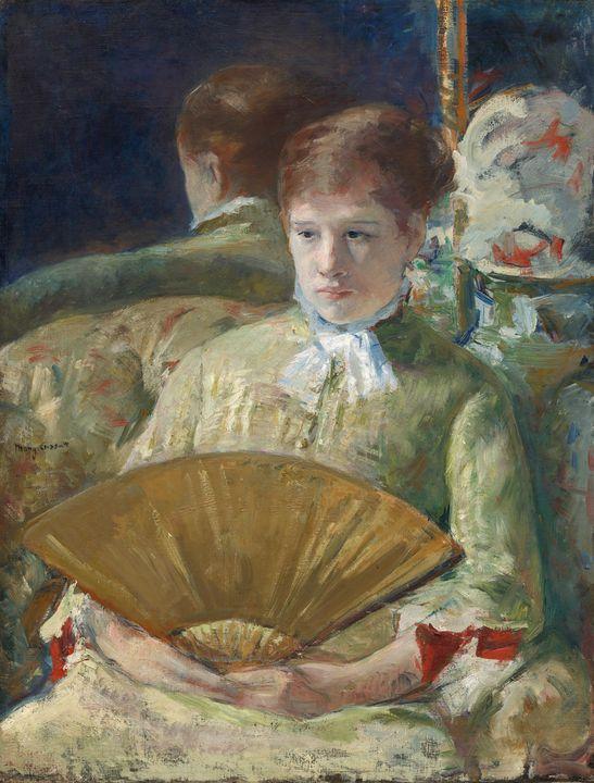 Mary Cassatt~Woman with a Fan - Artmaster