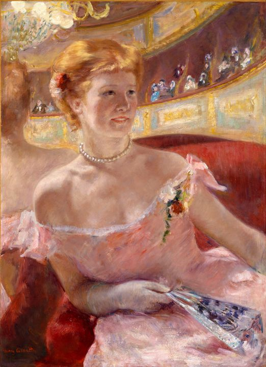 Mary Cassatt~Woman with a Pearl Neck - Artmaster