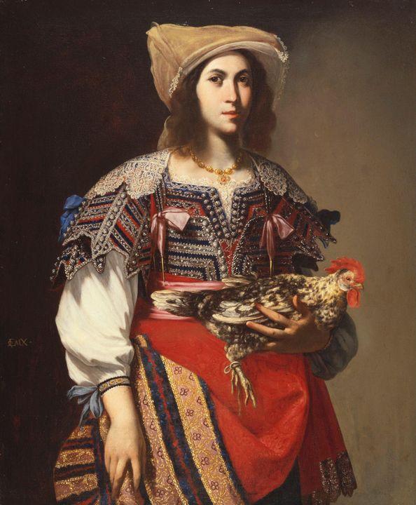 Massimo Stanzione~Woman in Neapolita - Artmaster