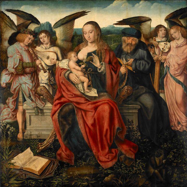 Master of Frankfurt~Holy Family with - Artmaster