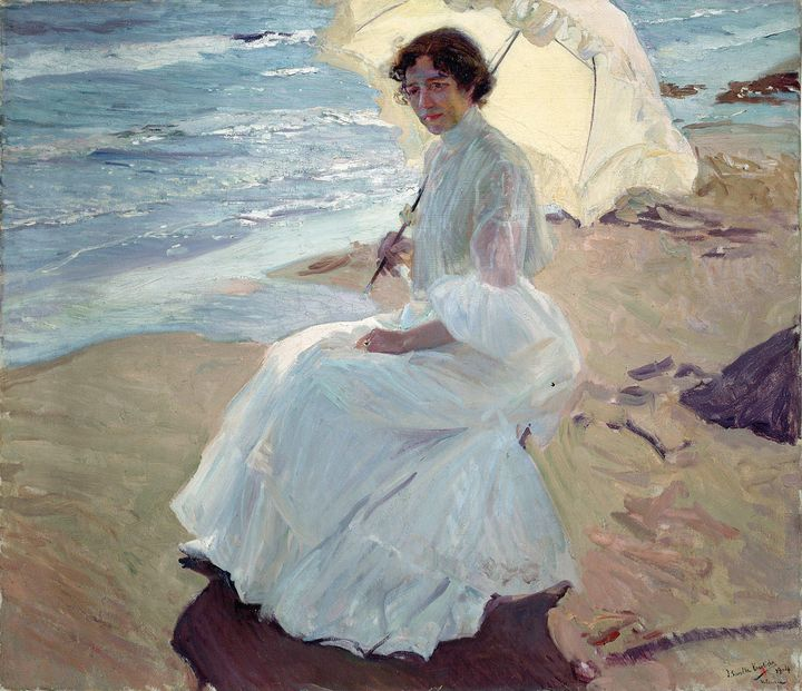 Joaquín Sorolla~Clotilde on the Beac - Artmaster