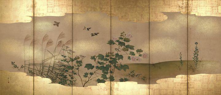 Matsumura Keibun~Folding Screen with - Artmaster