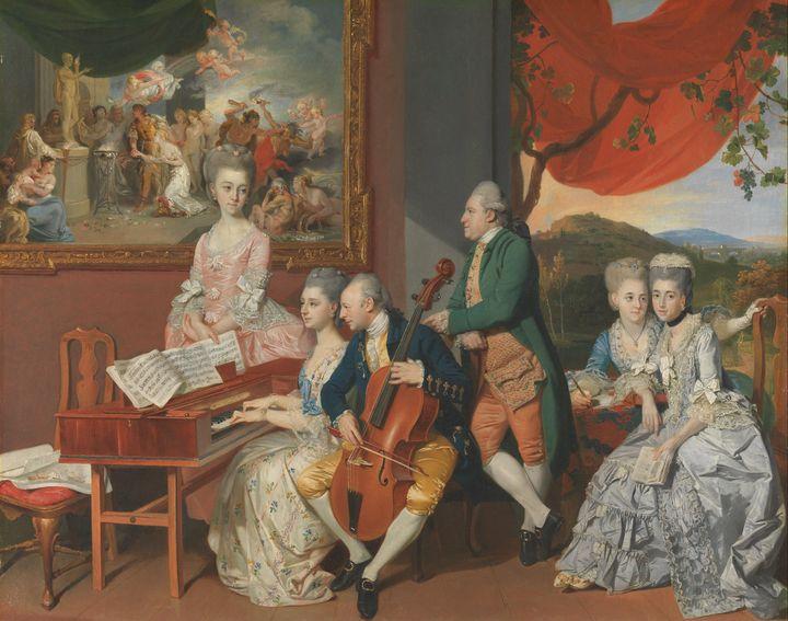 Johann Zoffany~The Gore Family with - Artmaster