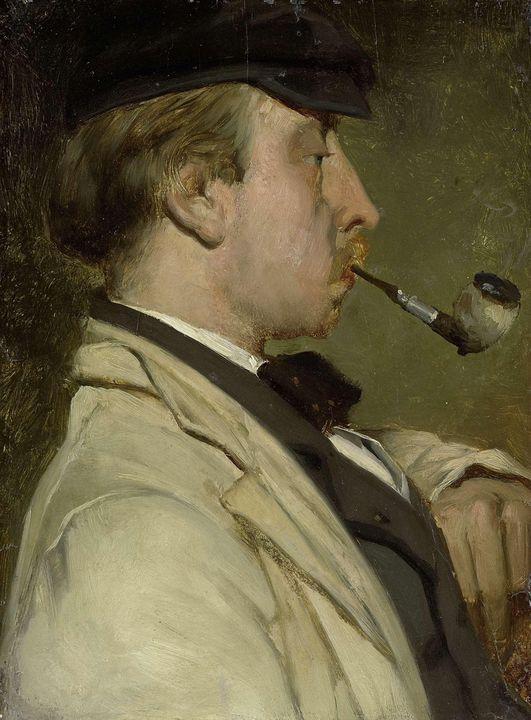 Matthijs Maris~Portrait of Ludwig Ca - Artmaster