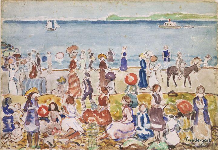 Maurice Prendergast~Revere Beach No. - Artmaster