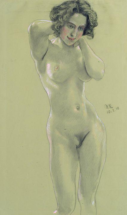 Max Klinger~Female Nude - Artmaster