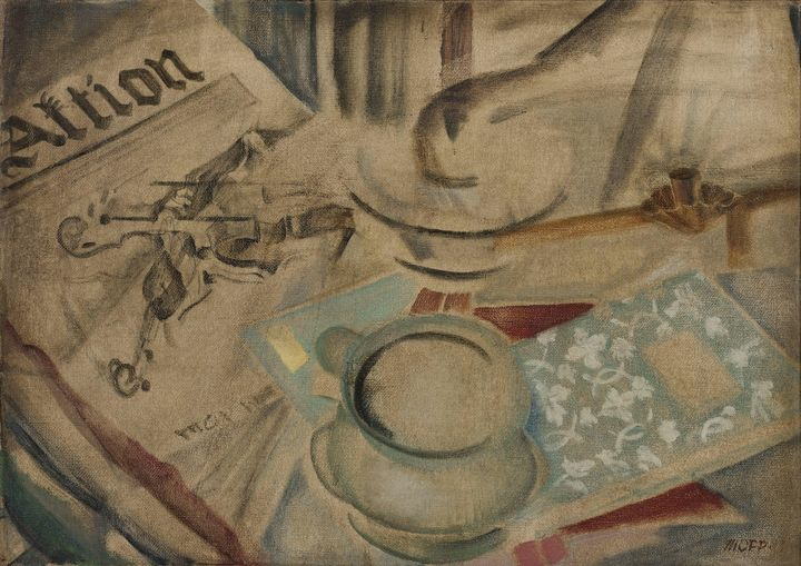 Max Oppenheimer~Stilleben 'Aktion' - Artmaster