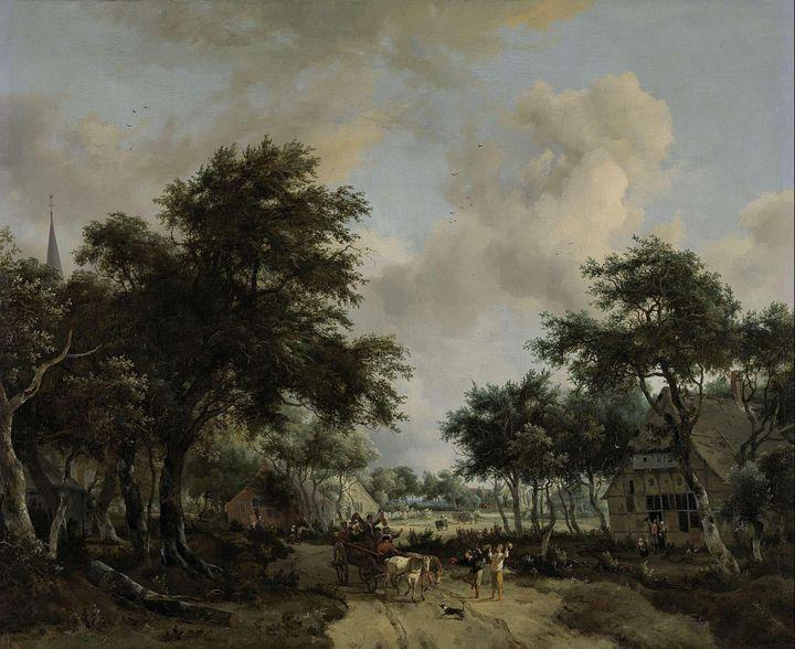 Meindert Hobbema~Wooded Landscape wi - Artmaster