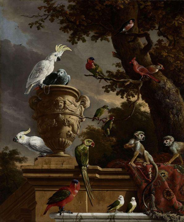 Melchior d'Hondecoeter~The Menagerie - Artmaster