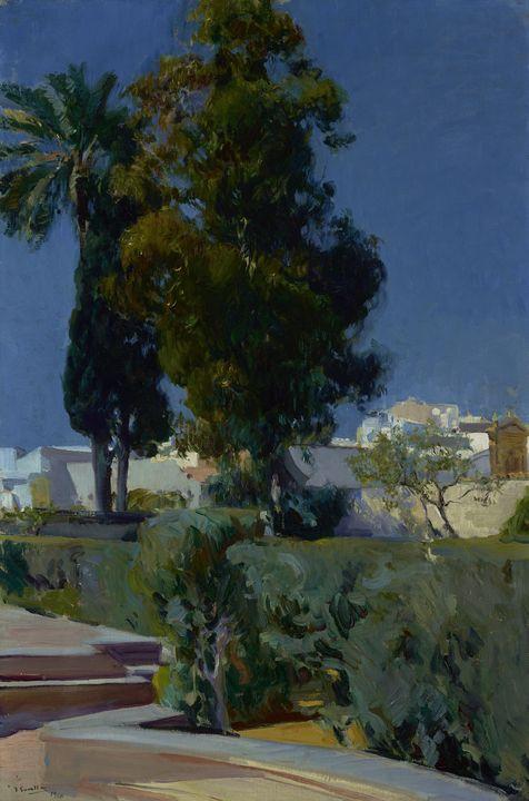Joaquín Sorolla~Corner of the Garden - Artmaster