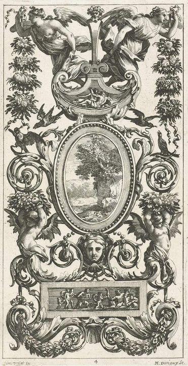 Michel Dorigny~Muurpaneel met ovale - Artmaster