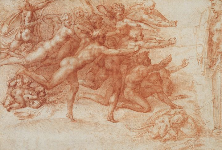 Michelangelo~Archers shooting at a h - Artmaster