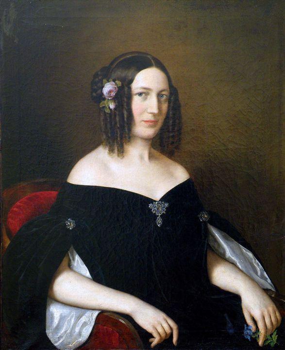 Miklós Barabás~Portret mladej vdovy - Artmaster