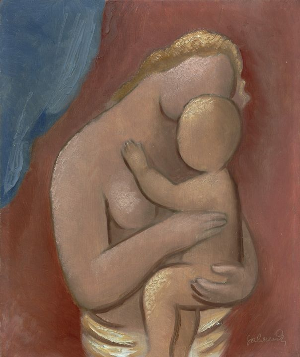 Mikuláš Galanda~Mother with child - Artmaster