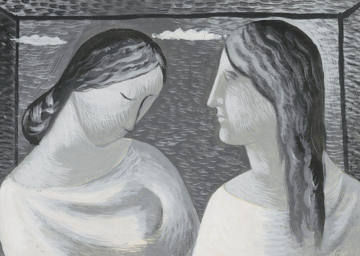 Mikuláš Galanda~Two Women. Conversat - Artmaster