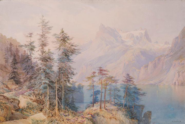 Nicholas Chevalier~Lake Lucerne - Artmaster