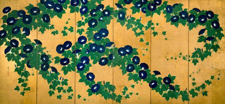 Suzuki Kiitsu~朝顔図屏風Morning Glories - Artmaster