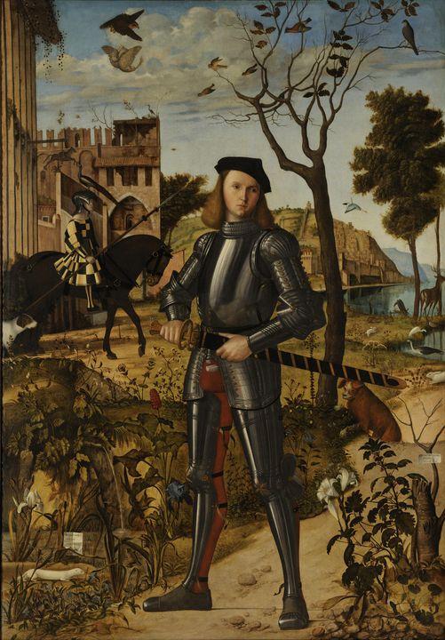 Vittore Carpaccio~Young Knight in a - Artmaster