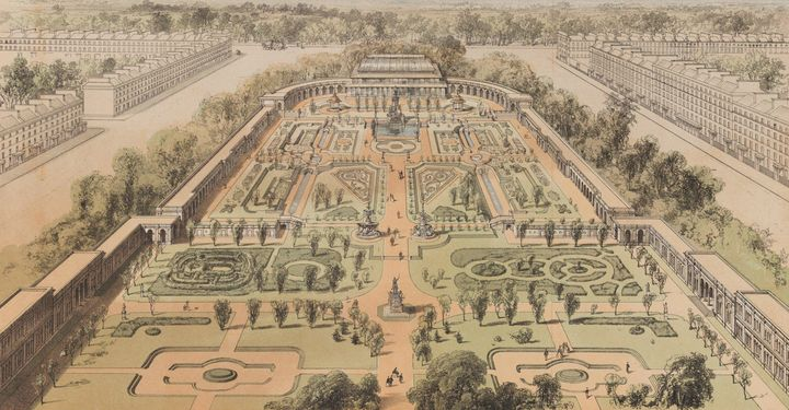William Day & Son~View of the Garden - Artmaster