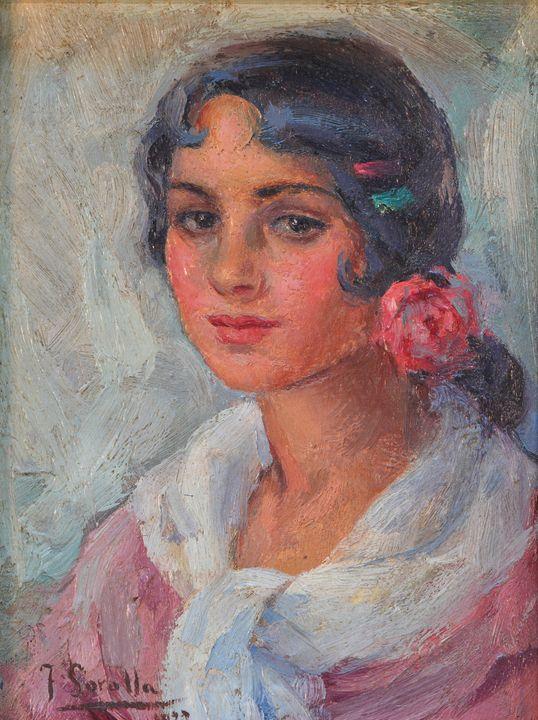 Joaquín Sorolla~Portrait of a Woman - Artmaster