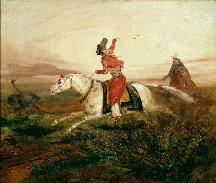 Johann Moritz Rugendas~Hunting Ostri - Artmaster