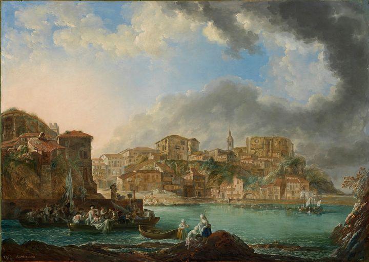 Luis Paret y Alcázar~View of Bermeo - Artmaster