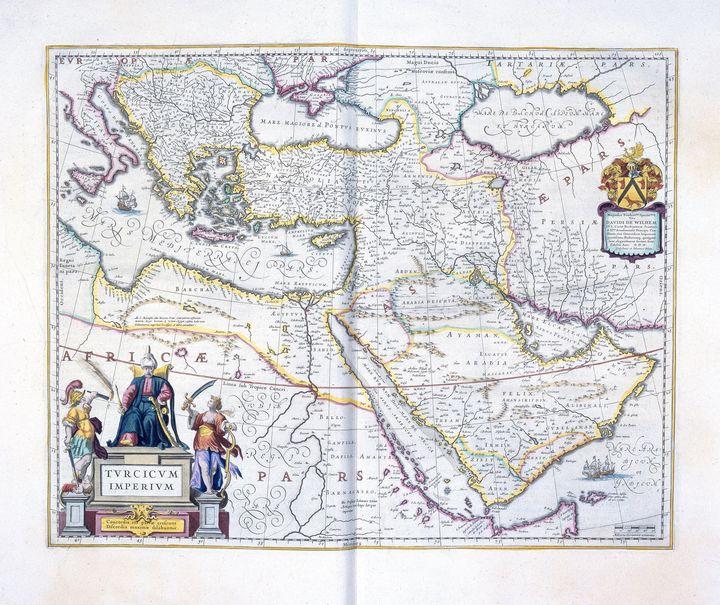 Johannes Janssonius~Map of the Turki - Artmaster