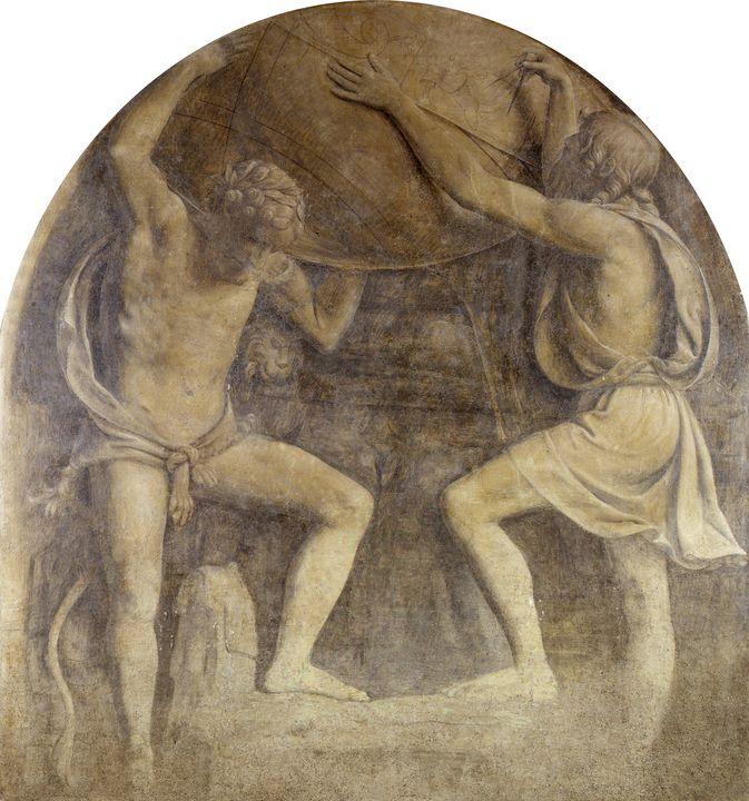 Bernardino Luini~Hercules and Atlas - Artmaster