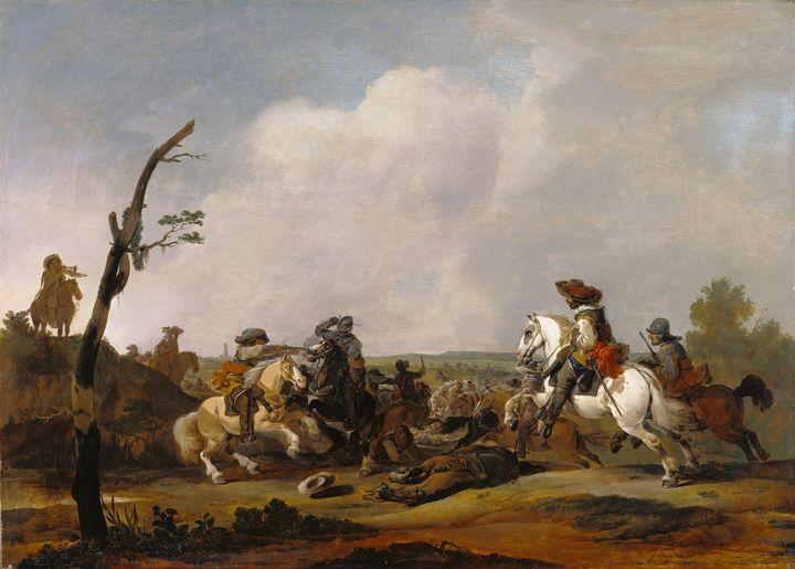 Johannes Lingelbach~Battle Scene - Artmaster