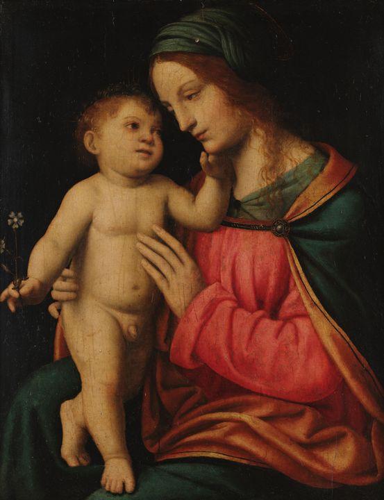 Bernardino Luini~The Madonna with Ch - Artmaster