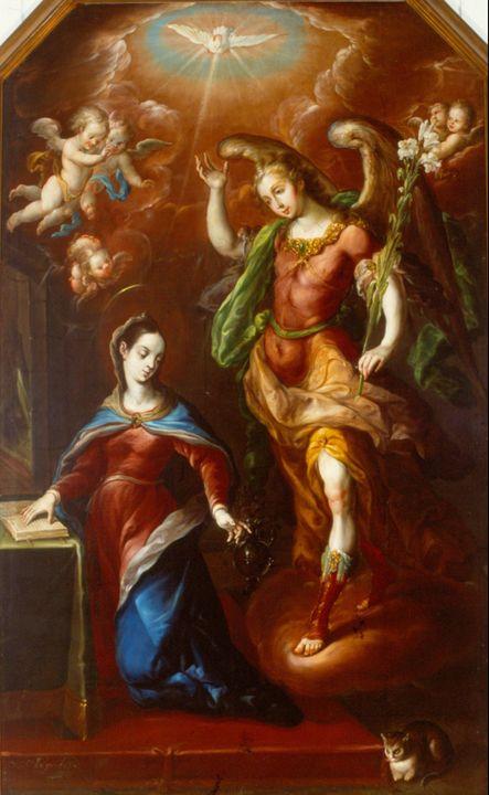 Cristóbal de Villalpando~The Annunci - Artmaster