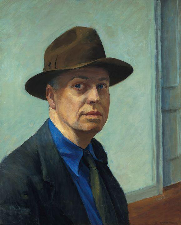Edward Hopper~-Self-Portrait - Artmaster