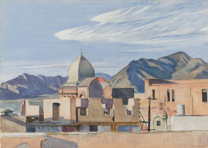 Edward Hopper~Construction in Mexico - Artmaster