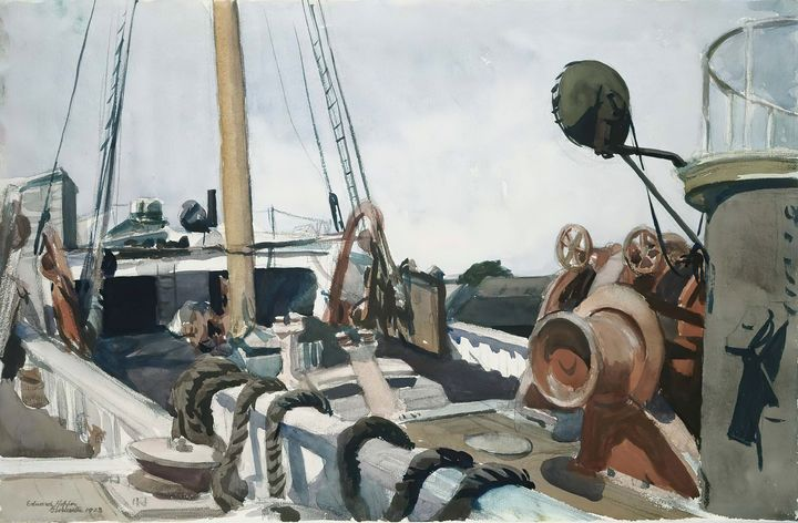 Edward Hopper~Deck of a Beam Trawler - Artmaster