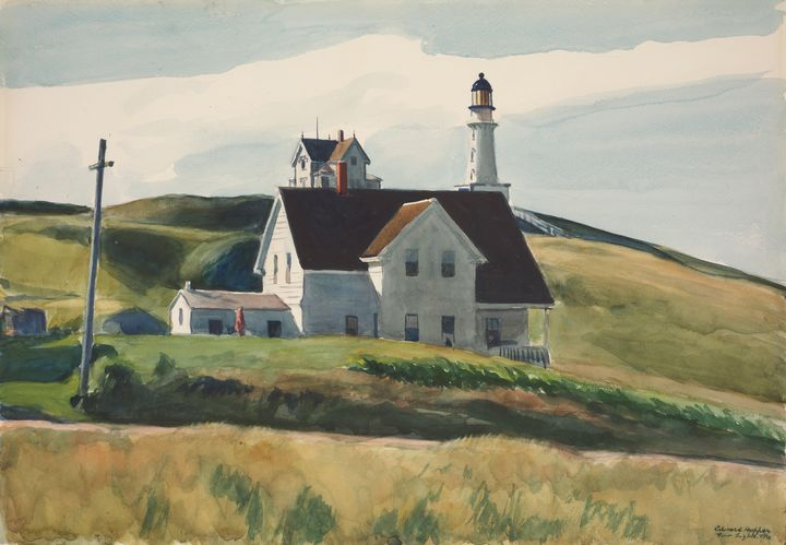 Edward Hopper~Hill and Houses, Cape - Artmaster
