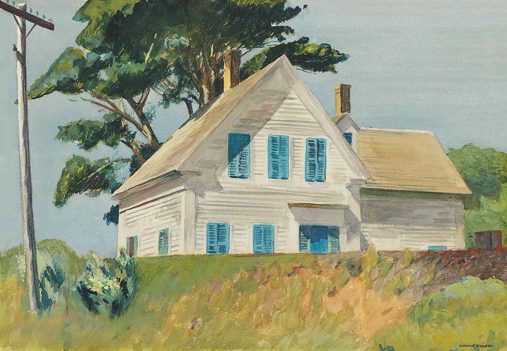 Edward Hopper~Railroad Embankment - Artmaster
