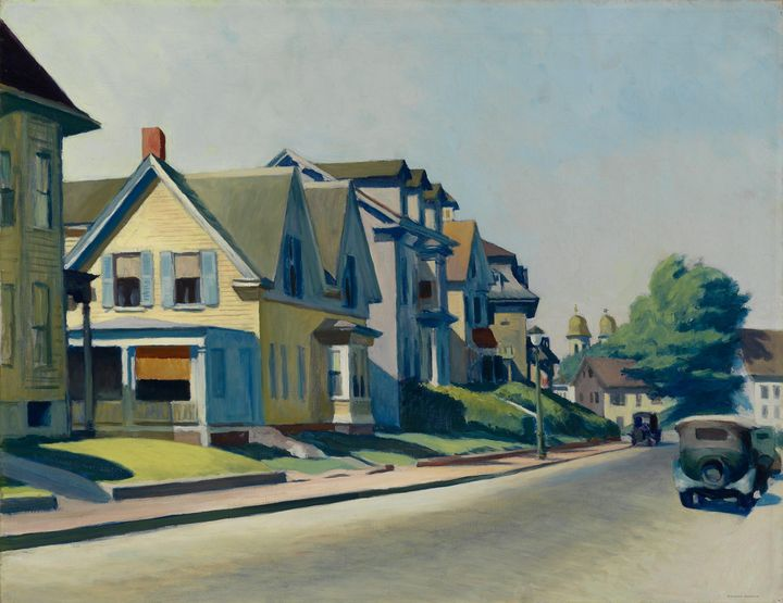 Edward Hopper~Sun on Prospect Street - Artmaster